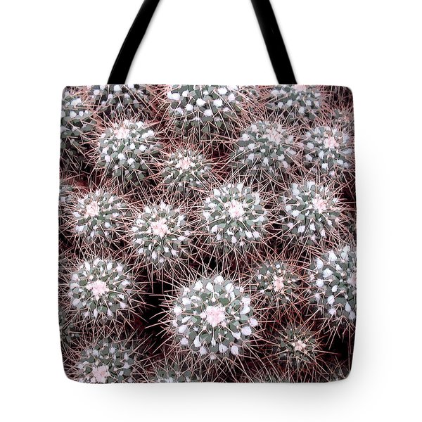 Tote Bag featuring the photograph Prickly Business by Mary Bedy