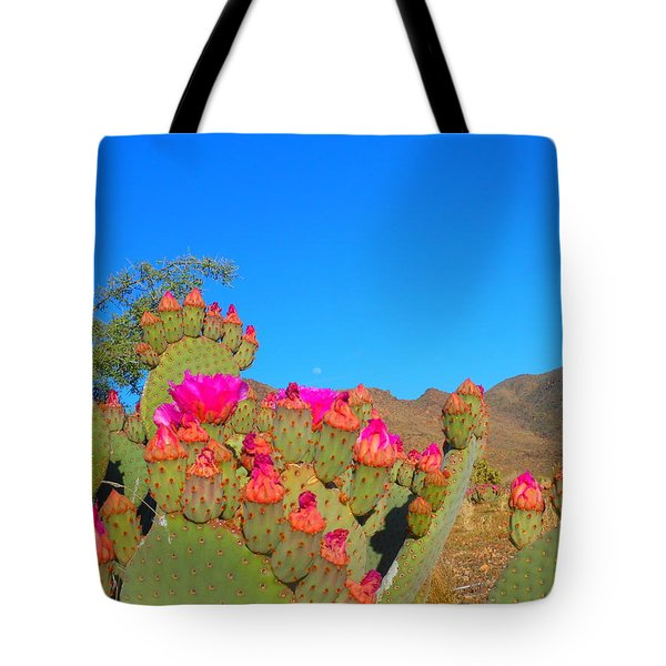 Prickly Pear Blooming Tote Bag