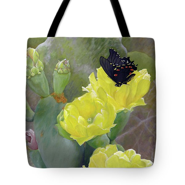 Prickly Pear Flower Tote Bag by Adam Johnson