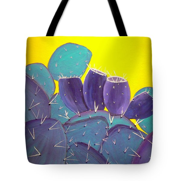 Prickly Pear With Fruit Tote Bag by Karyn Robinson