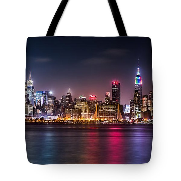 Tote Bag featuring the photograph Pride Weekend Panorama by Mihai Andritoiu