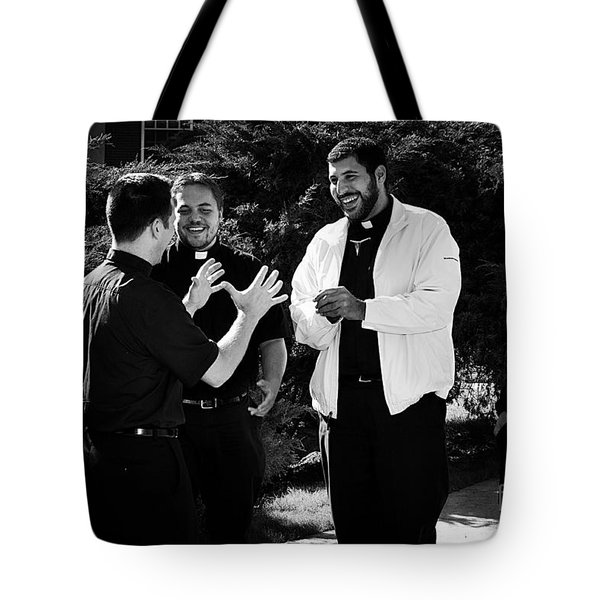 Priest Camaraderie Tote Bag