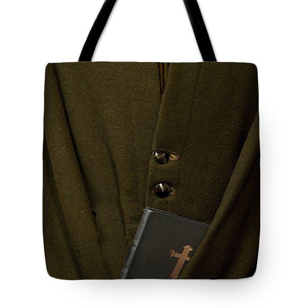 Priest Tote Bag by Margie Hurwich