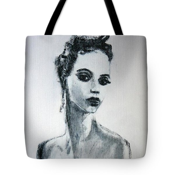 Tote Bag featuring the painting Primadonna by Jarmo Korhonen aka Jarko
