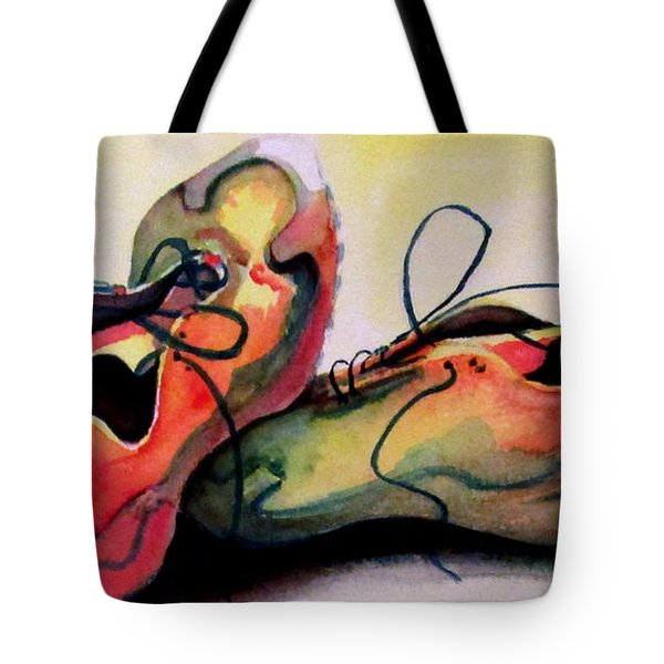 Tote Bag featuring the painting Primarily Sneakers by Mary Kay Holladay