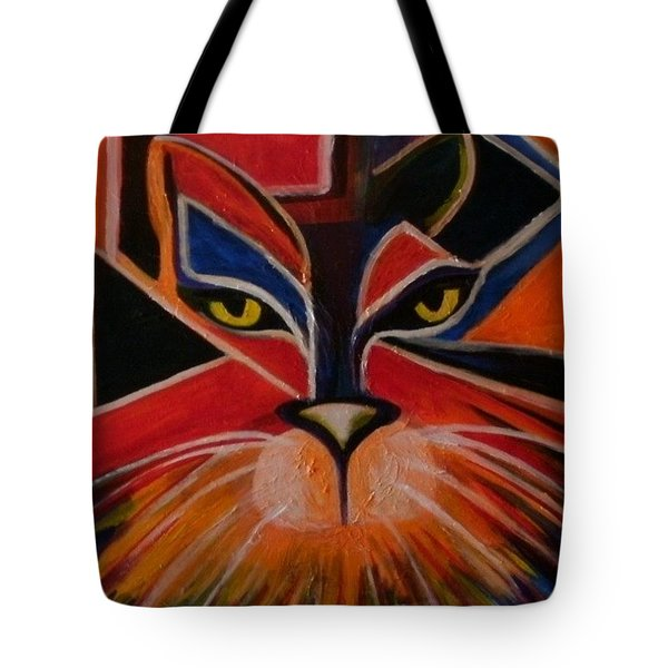 Primary Cat Tote Bag by Carolyn LeGrand