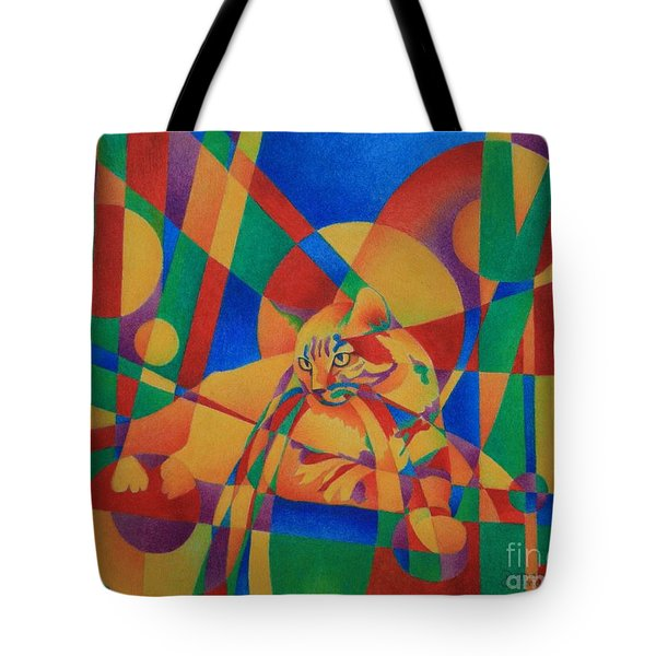 Primary Cat IIi Tote Bag by Pamela Clements