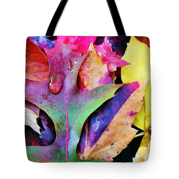 Tote Bag featuring the photograph Primary Colors Of Fall by Judy Palkimas