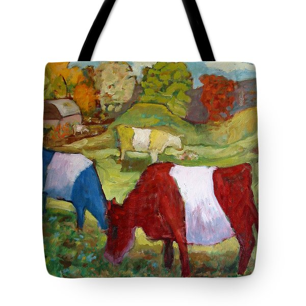 Primary Cows Tote Bag