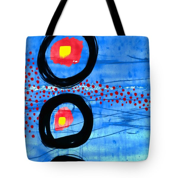 Primary Movement - Square Tote Bag by Carol Leigh