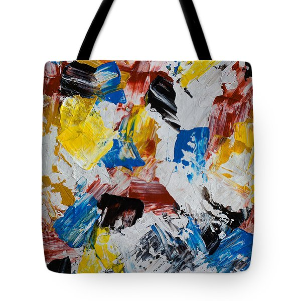 Tote Bag featuring the painting Primary Plus by Heidi Smith