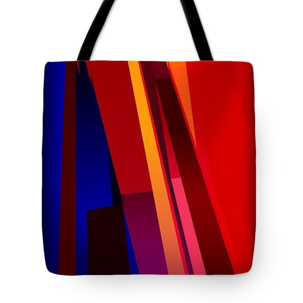 Primary Skyscrappers Tote Bag by James Kramer