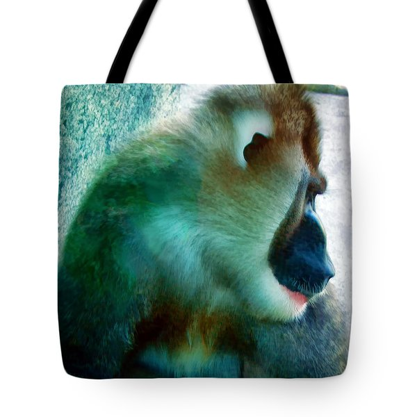Tote Bag featuring the photograph Primate 1 by Dawn Eshelman