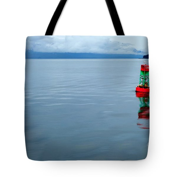Tote Bag featuring the photograph Prime Real Estate  by Jacqueline Athmann