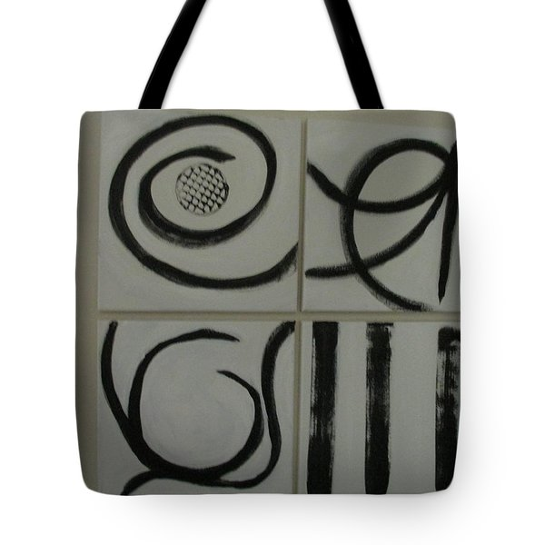 Tote Bag featuring the painting Primitive Asian by Sharyn Winters