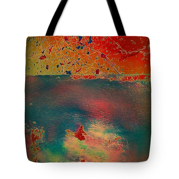 Tote Bag featuring the painting Primordial by Jacqueline McReynolds