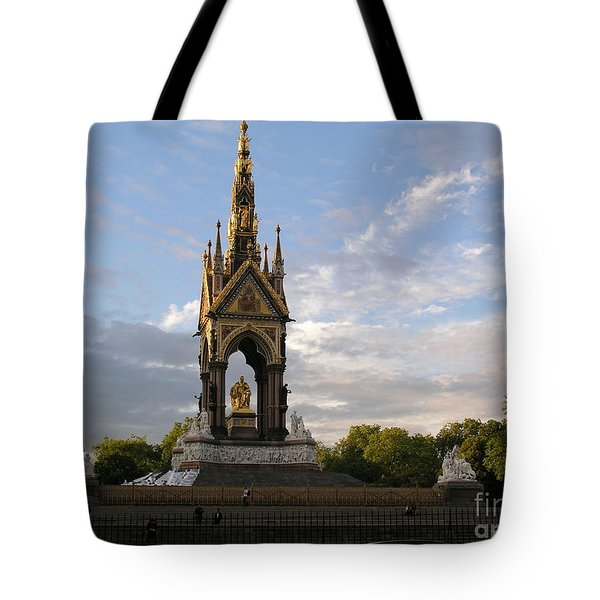 Tote Bag featuring the photograph Prince Albert Memorial by Bev Conover
