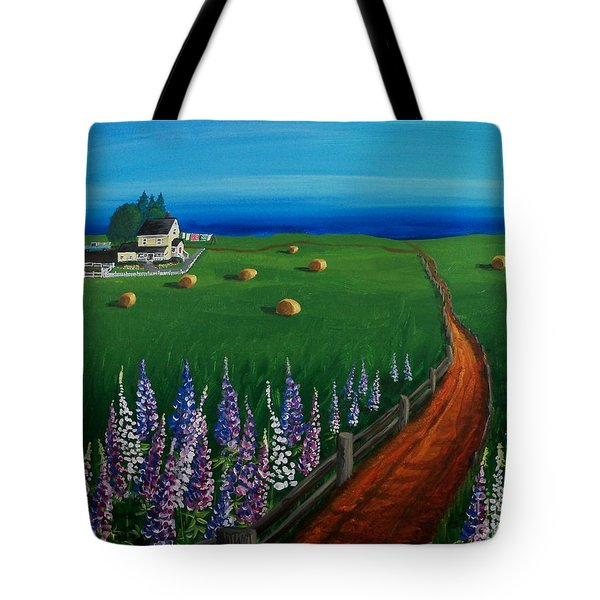 Prince Edward Island Coastal Farm Tote Bag