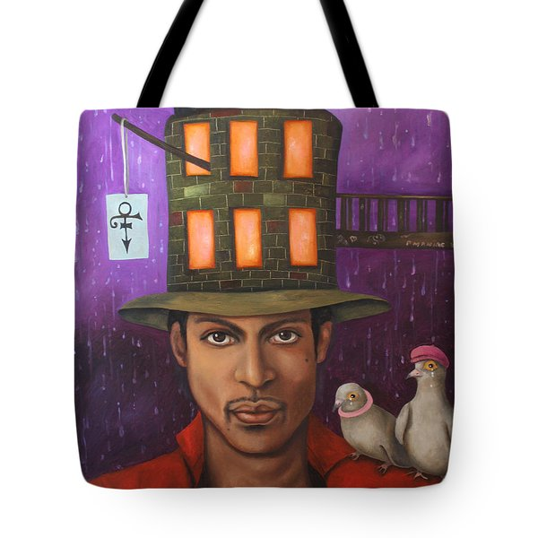 Prince Tote Bag by Leah Saulnier The Painting Maniac