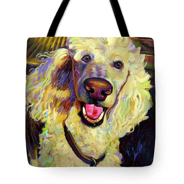 Princely Poodle Tote Bag