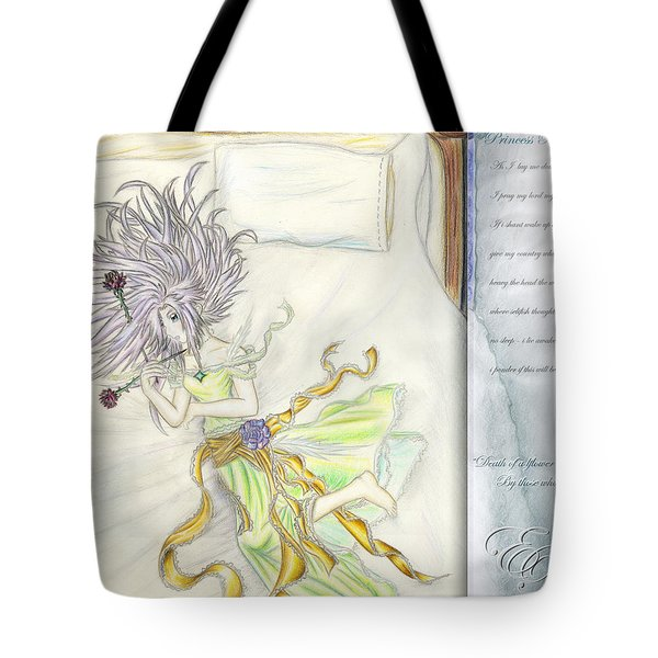 Tote Bag featuring the painting Princess Altiana Aka Rokeisha by Shawn Dall