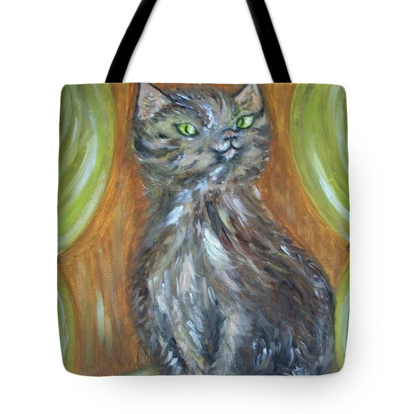 Tote Bag featuring the painting Princess Kitty by Teresa White
