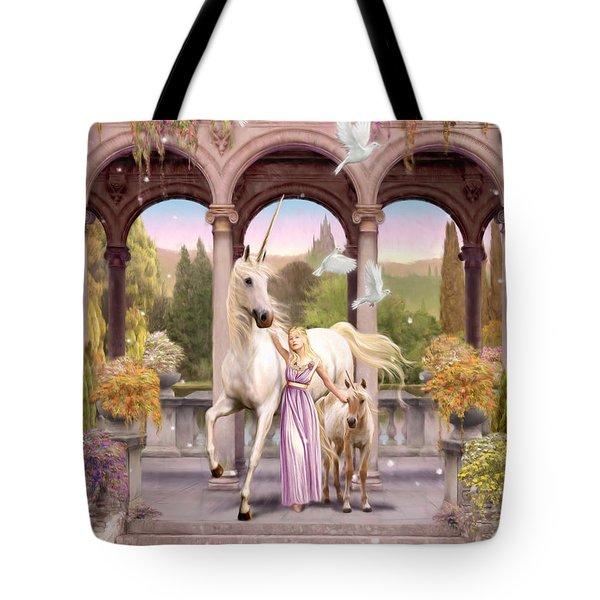 Princess Of The Unicorns Variant 1 Tote Bag by Garry Walton