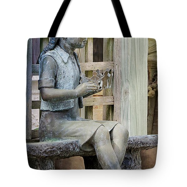 Tote Bag featuring the photograph Princess Within The Garden by Ella Kaye Dickey