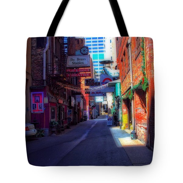 Printers Alley Nashville Tennessee Tote Bag by Dan Sproul