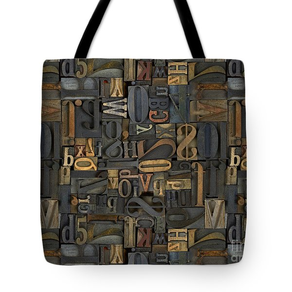 Printing Letters 1 Tote Bag by Peter Awax