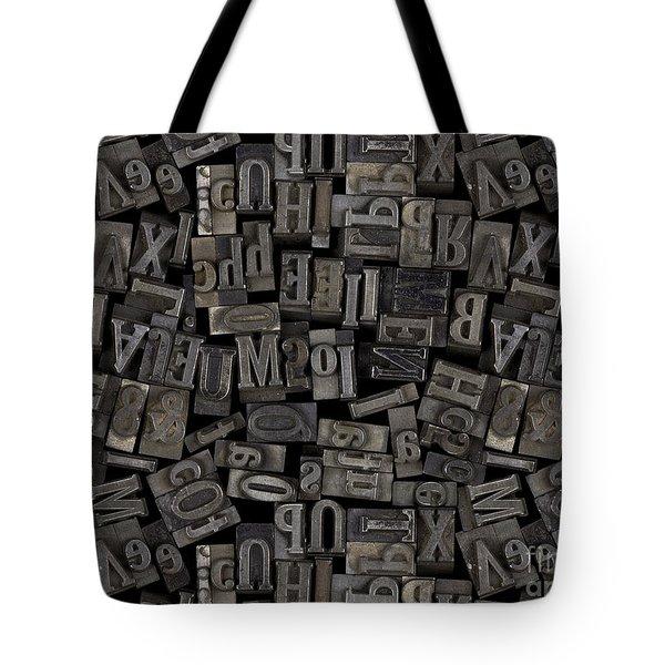 Printing Letters 2 Tote Bag by Bedros Awak