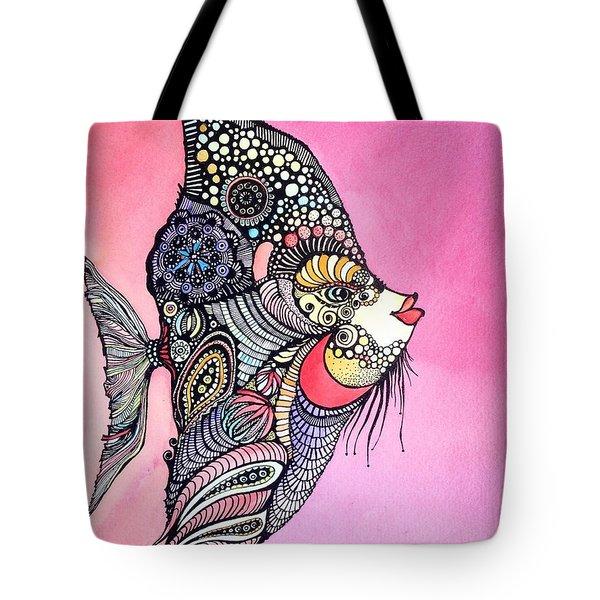 Priscilla The Fish Tote Bag by Iya Carson