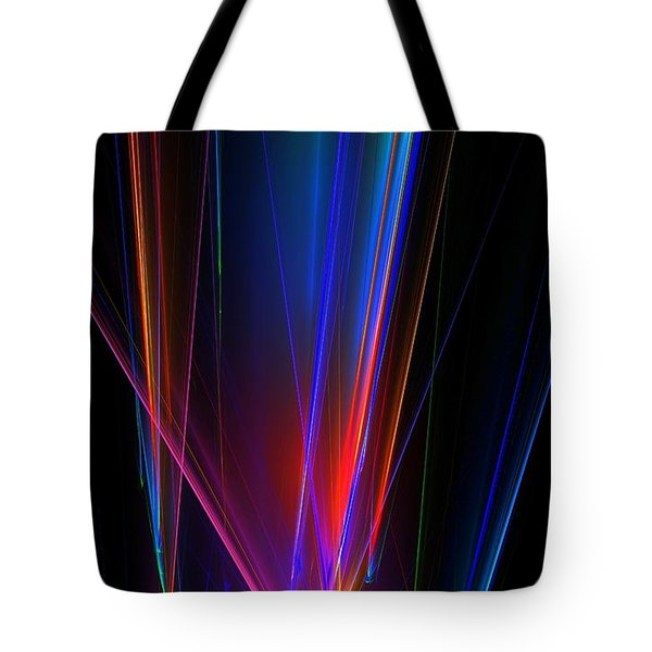 Tote Bag featuring the digital art Prisims P by Greg Moores