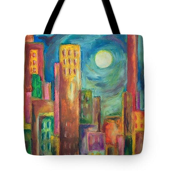 Prismatic Cityscape Tote Bag