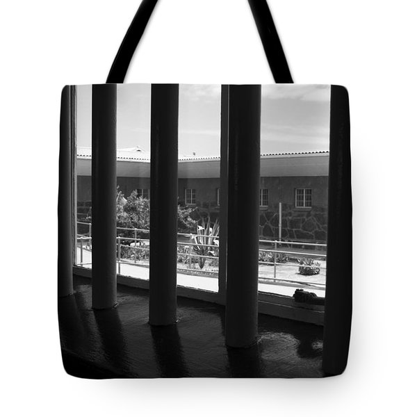Prison Cell View Tote Bag by Aidan Moran