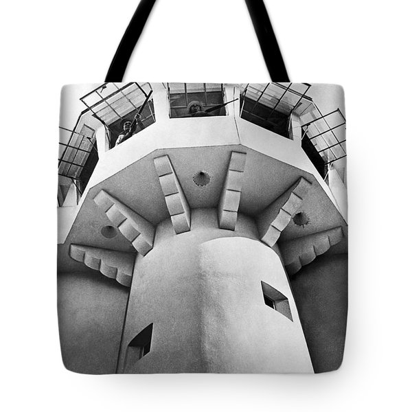 Prison Guard Tower Tote Bag by Underwood Archives