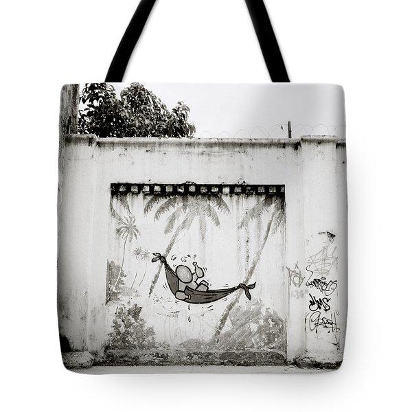 Prison Mural Tote Bag by Shaun Higson