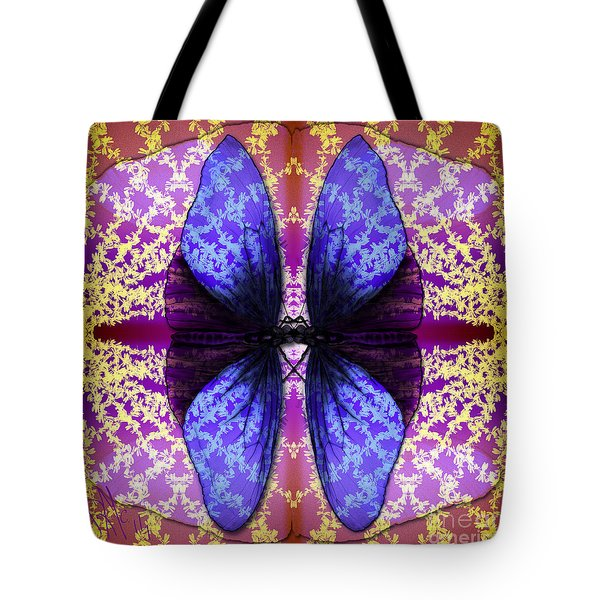 Tote Bag featuring the digital art Prisoner Butterflies by Rosa Cobos