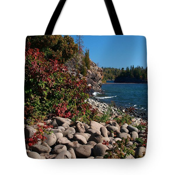 Tote Bag featuring the photograph Pristine Shoreline by Melissa Peterson