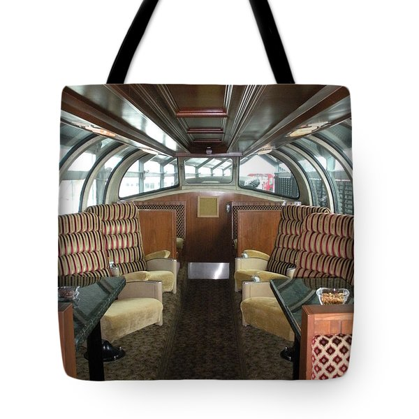 Private Dome Rail Car  Tote Bag