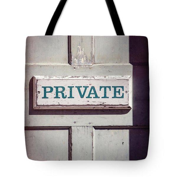 Private Doorway Tote Bag