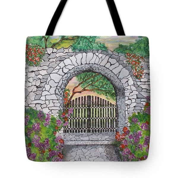 Private Garden At Sunset Tote Bag