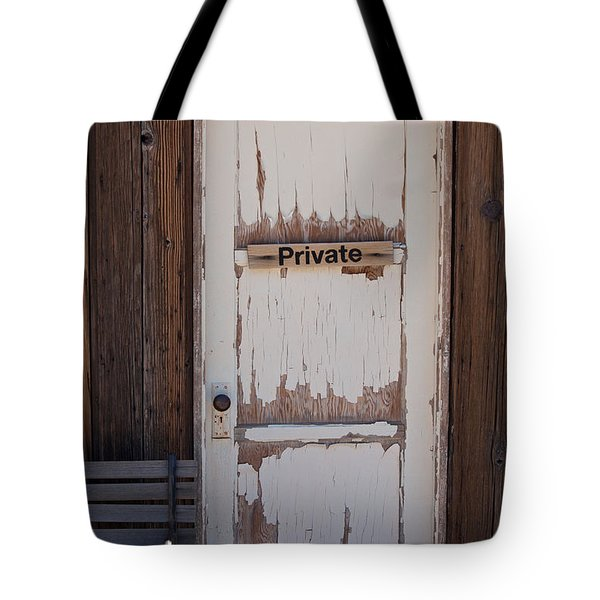 Tote Bag featuring the photograph Private by Gunter Nezhoda