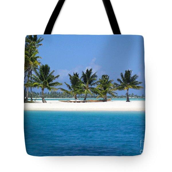 Private Motu Bora Bora Tote Bag by Camilla Brattemark