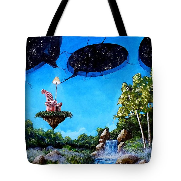 Tote Bag featuring the painting Private Space... by Mariusz Zawadzki