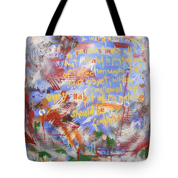 Feeling's Of Affection Tote Bag