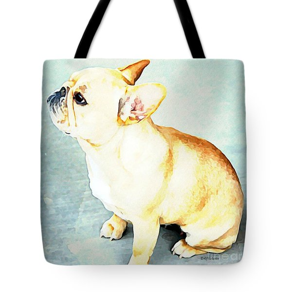 Tote Bag featuring the painting Profile In Frenchie by Barbara Chichester