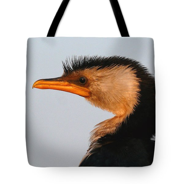 Profile Of A Young Cormorant Tote Bag by Evelyn Tambour