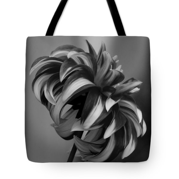 Profile Of Not Santa Two In Black And White Tote Bag