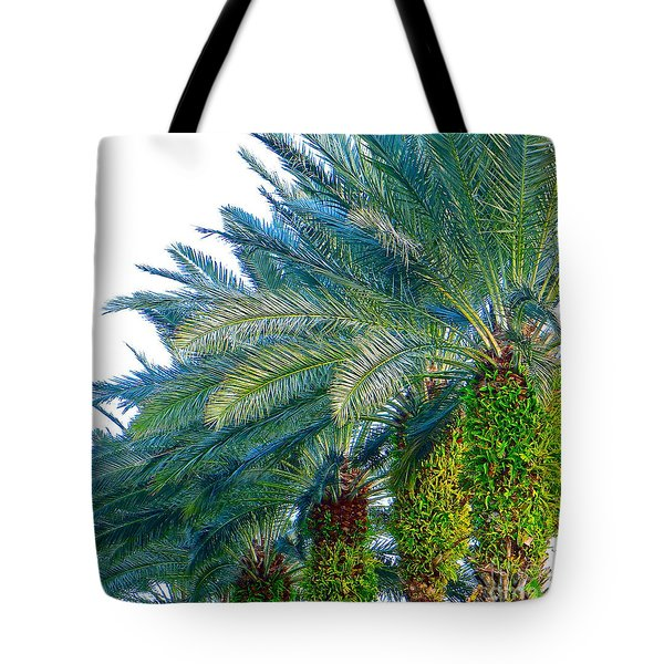 Progression Of Palms Tote Bag by Joy Hardee